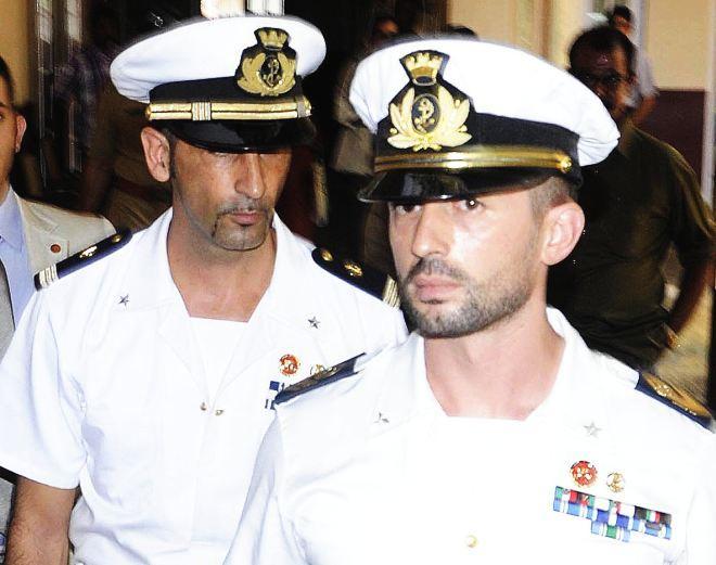 I marò italiani  Salvatore Girone e Massimiliano Latorre.