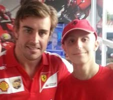 Fernando Alonso con Lorenzo