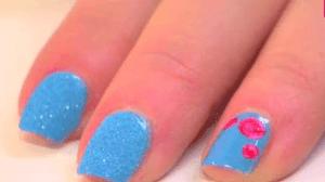 nail art crystal blue