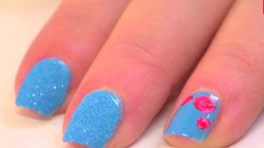nail art crystal blue