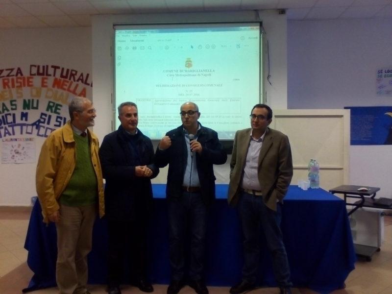 Delegazione comunale con Dir. Scol. Giuseppe Ianniciello ITA Rossi Doria Marigliano