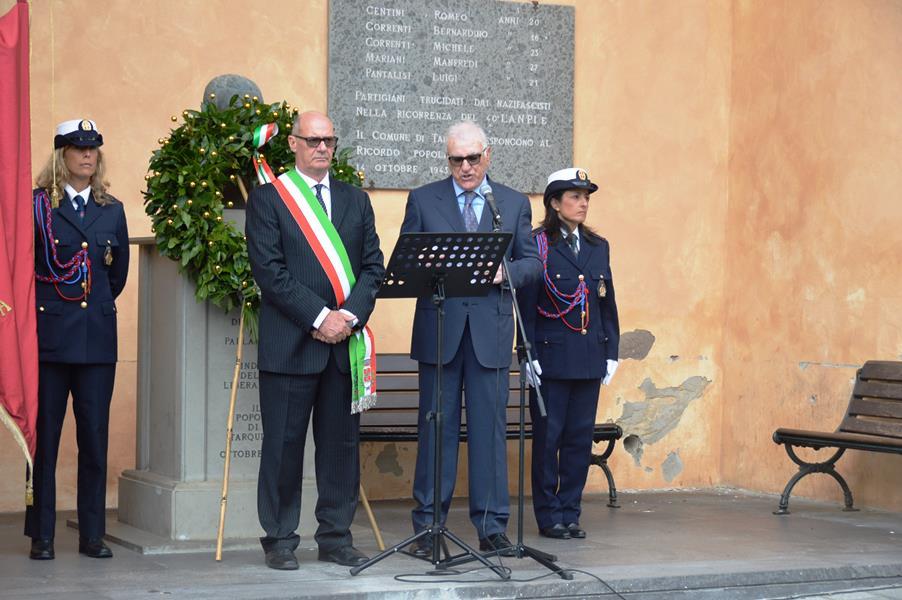 Il consigliere Flumini con il sindaco Mazzola