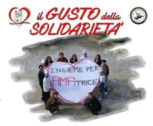 """Insieme Per Amatrice, locandina dell'iniziativa """"Il Gusto della Solidarietà"""" a Molfetta (Bari)"""
