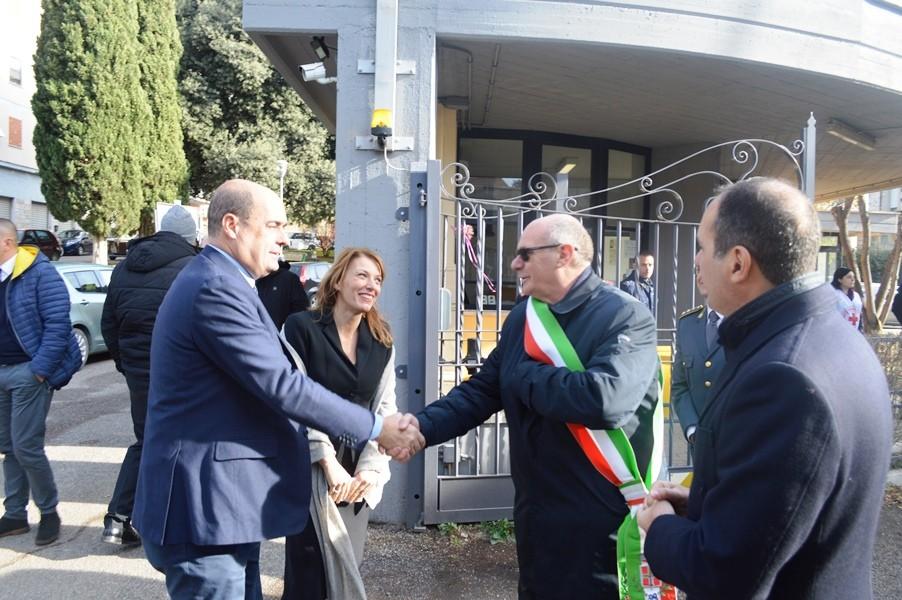 Tarquinia. Il sindaco Mazzola accoglie il presidente Zingaretti