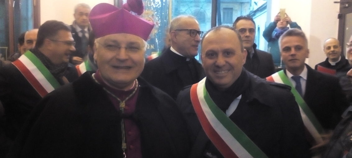Sindaco F. Di Maiolo e Vescovo SER F. Marino - Nola 15.1.2017