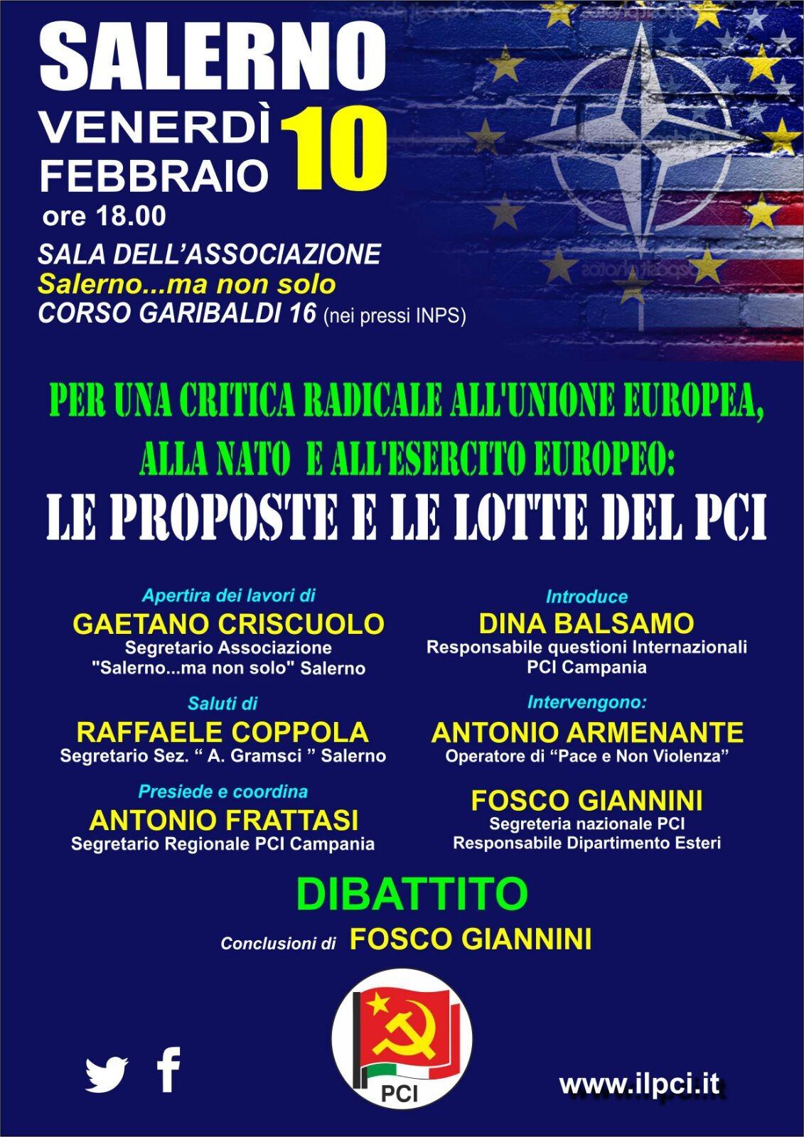 locandina dibattito PCI Salerno