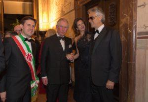 Bocelli e il Principe Carlo