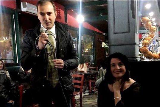 L'assessore Bruno Beneduce e la scrittrice Cristiana Buccarelli