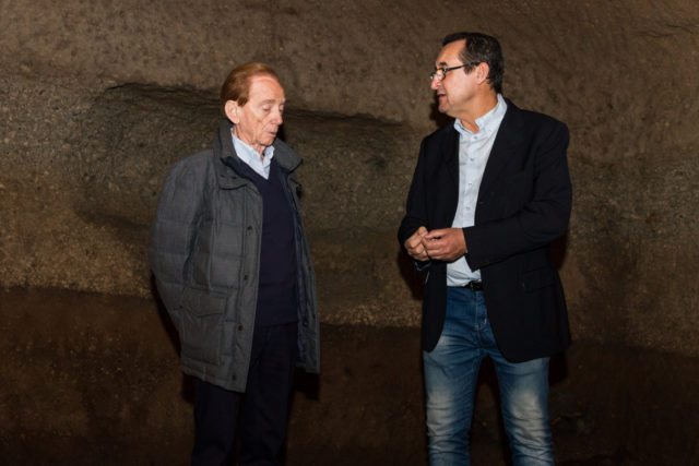 OSVALDO BEVILACQUA INSIEME A SERGIO CESARINI, FONDATORE VITERBO SOTTERRANEA