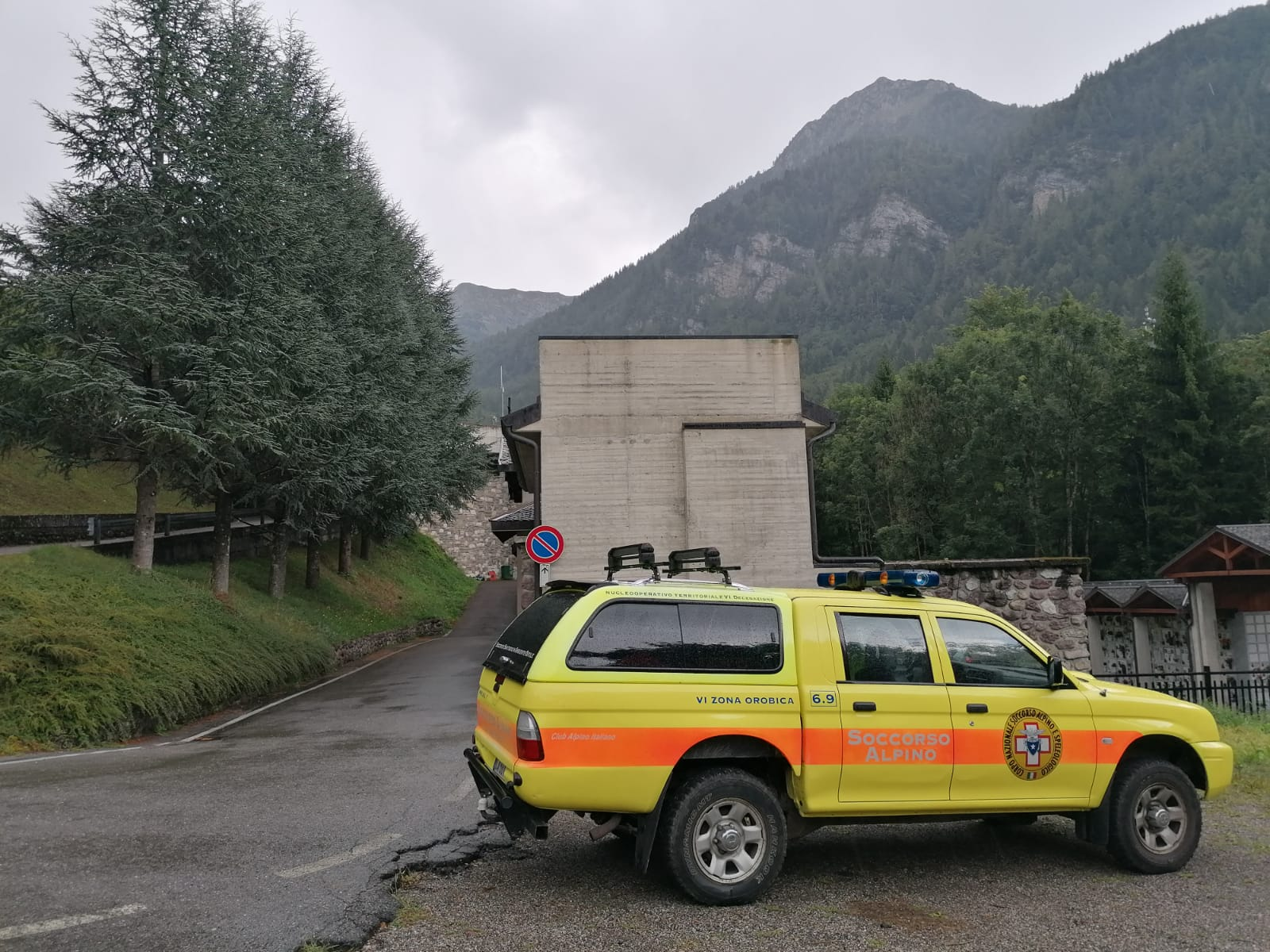 Cnsas Lombardia durante un intervento di soccorso