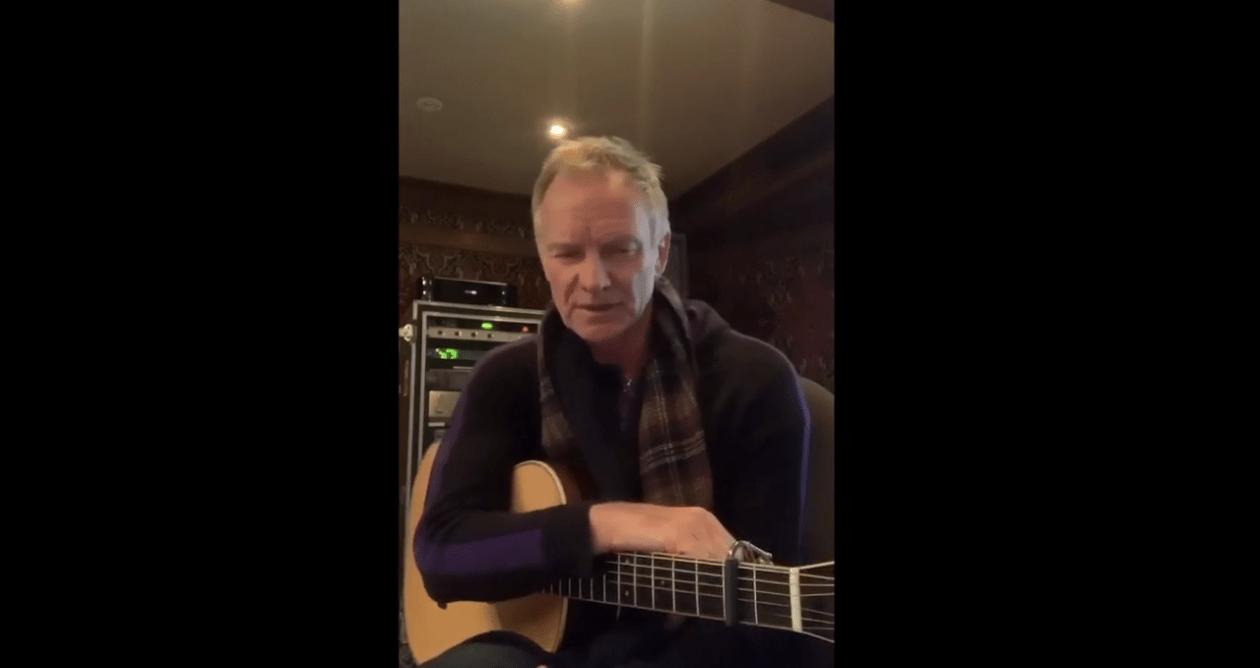 Il video messaggio e la canzone di Sting per gli italiani