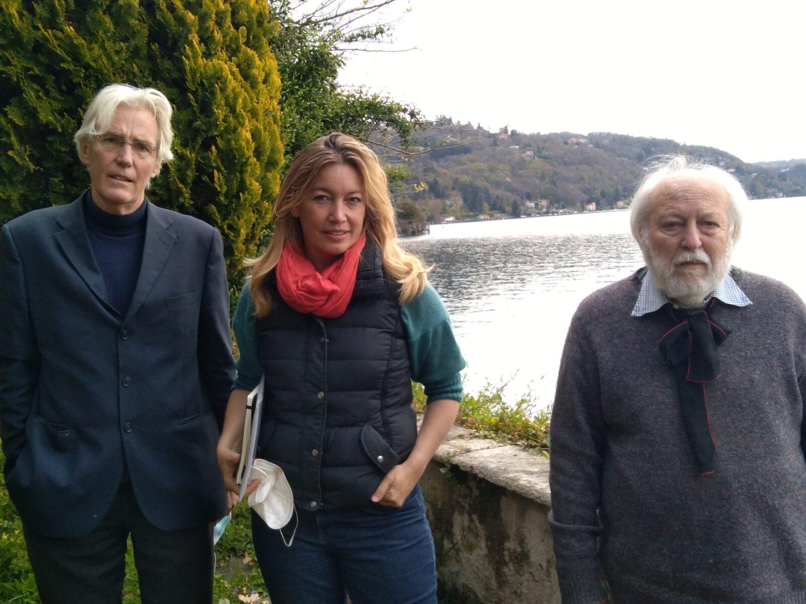 da sinistra: Paul Russel, Andrea Vogt e Cesare Berrmani