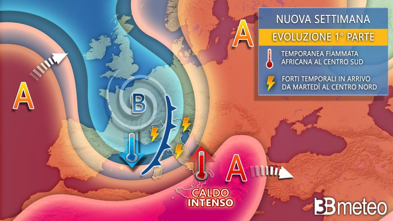 Previsioni Meteo prossima settimana (3bmeteo.com)