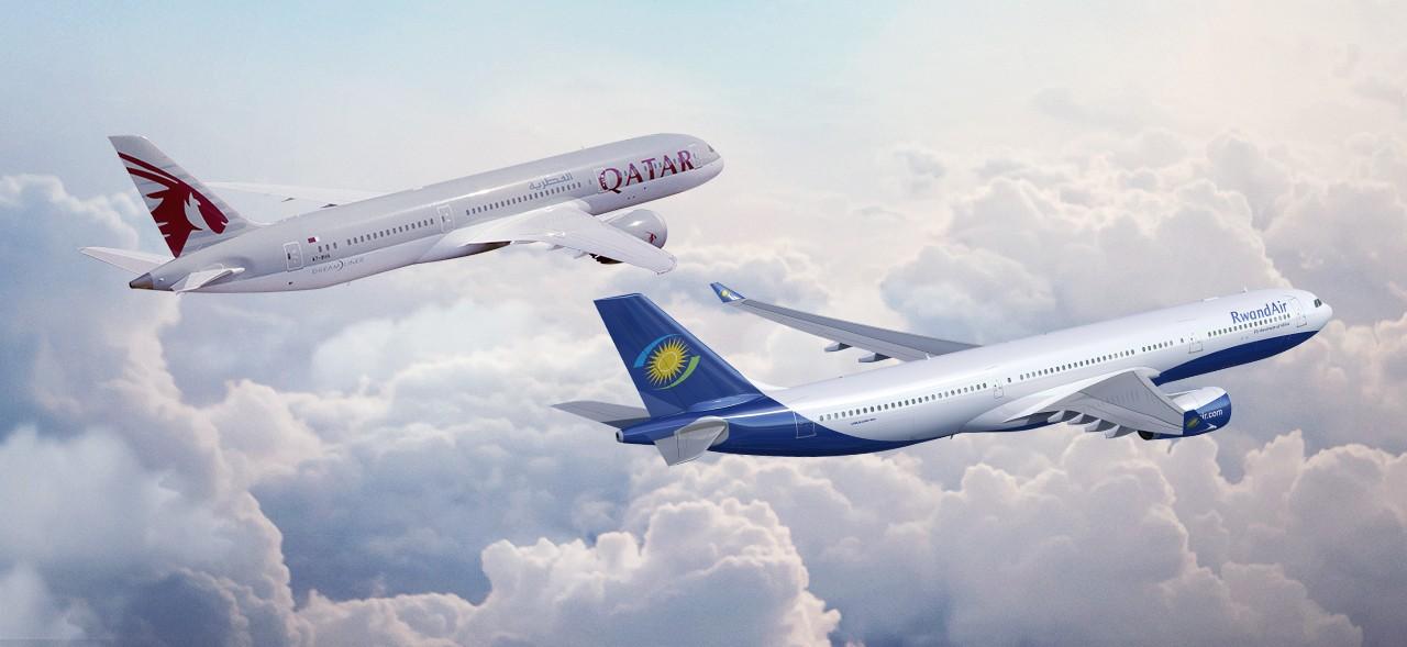 Qatar Airways e RwandAir